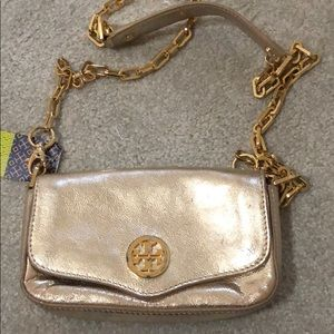 Tory Burch gold mini bag